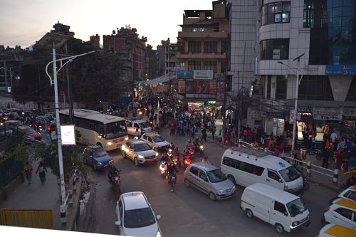 atasco-en-Kathmandu-Nepal