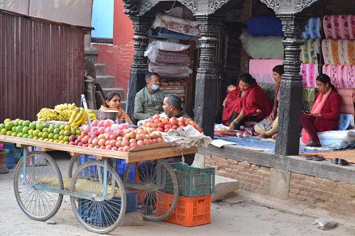 Venta-ambulante-Nepal